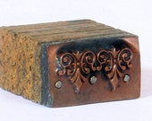 TINY ORNATE 1903-1953 Antique Copper Letterpress Cut / Printing Block / Dingbat