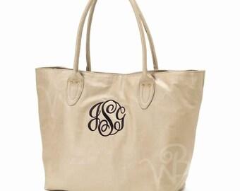 Ladies Faux Leather Monogrammed Shoulder Purse. Personalized Bag Purse. Monogrammed Large Purse. Women's Purse. Black Tan Purse