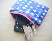 ann kelle remix multi cross zippered pouch - FREE SHIPPING