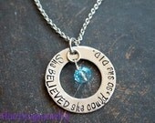 Inspiration Necklace, She BELIEVED she could so she DID Necklace, Inspirational Jewelry, Hand Stamped Washer Necklace