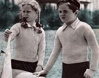Bear Brand & Bucilla #320 c.1941 - The Children's Book, Patterns in Knitting and Crochet