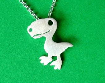 Dinosaur Necklace T rex Necklace Dino Pendant Sterling Silver Teen Necklace Kids Pendant Boy Necklace