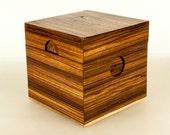 The Zebra wood Cube box