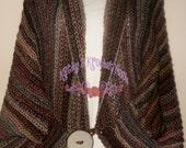 Ozark Mountain Ribbed Crochet Shrug - sweater, cardi, shrug, cardigan, crochet, brown, winter, fall, autumn, women, clothing, poncho, wrap