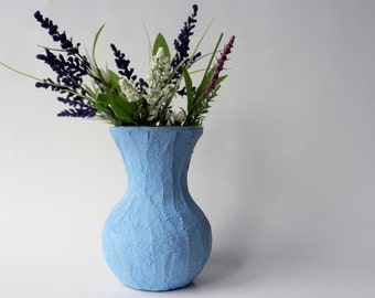 blue Vase / blue home decor / powder blue Vase / Flower vase / sweetheart vase