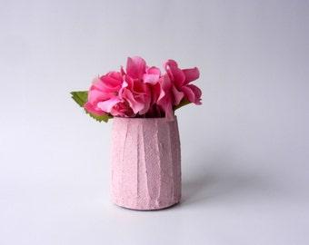 small pale pink vase / short vase / pinkHome Decor / pink home decor