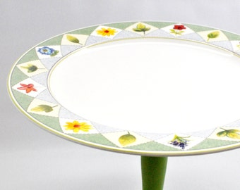 Vintage China Cake Stand - Wedding Decor - Tablescape - Table Setting - Romantic Decor - Appetizer Tray