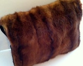 Vintage Chocolate Brown Mink Muff
