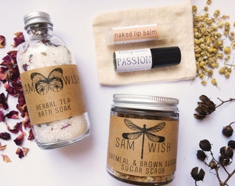 Spa Gift Set // Medium // Organic Bath // Bath Set