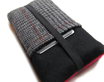 iphone 7 & plus Samsung S5 HTC One  Harris Tweed Pure  Wool Cover