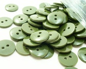 """Olive Army Green 7/16"""" (11 mm) buttons, Qty 150"""