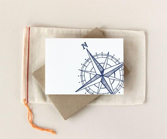 Compass Notecard Set