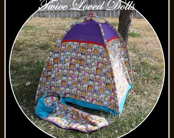BOY Doll Tent for 18 Inch Dolls like American Girl and Magic Attic