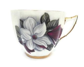 English Teacup, China Teacup, Royal Prince, Floral TeaCup, Bone China Cup, Single Teacup, Fine China, Fancy TeaCup, White flower teacup