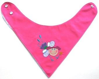 Baby Bandana Bib   Embroidered Fairy