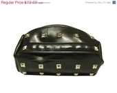 HOLIDAYSALE Studded Rubber Cylinder Clutch - Recycled Wristlet