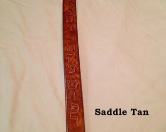 Leather Shofar Strap Saddle Tan