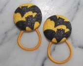 Bat Girl Halloween pony tail holders make great party favors!