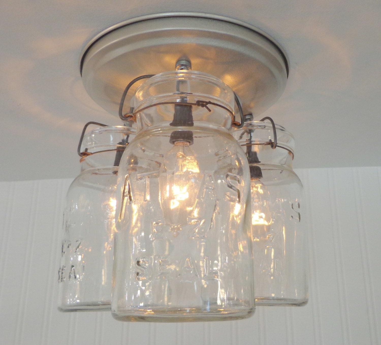 mason jar ceiling light hanging vintage quarts