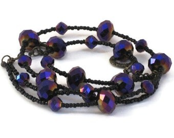 Purple Choker Necklace, One of a Kind, Gifts for Women Mom Wife Sister Daughter Grandma Teacher Under 30, Stocking Stuffers