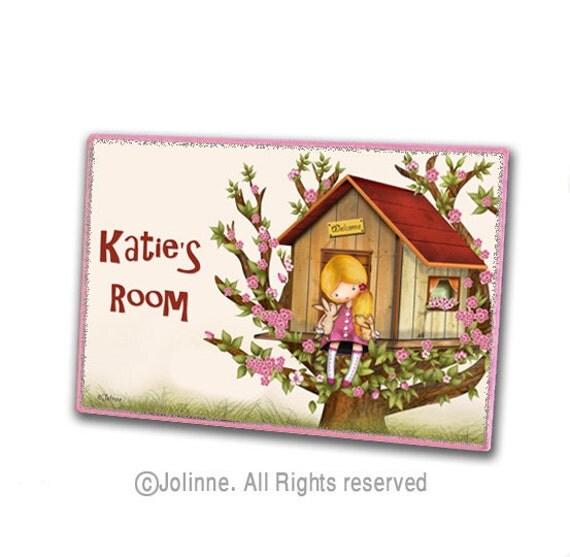 Personalized kids door sign, kids door plaque, childrens art