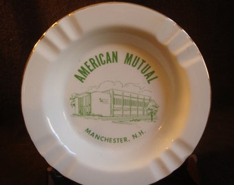 American Mutual Insurance Ashtray Manchester New Hampshire