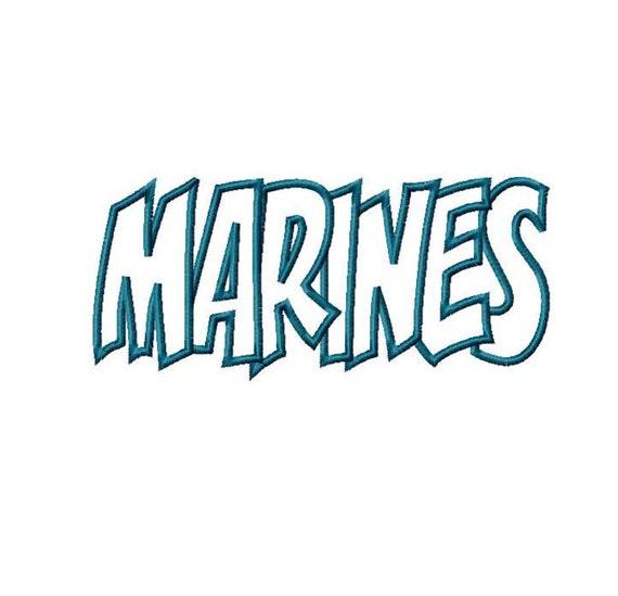 Marines Embroidery Machine Applique Design 4328