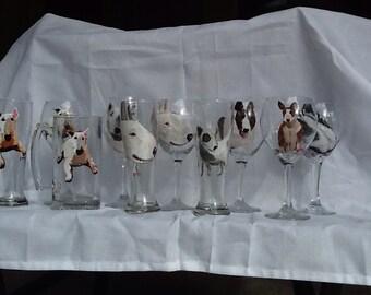 Bull terrier glasses
