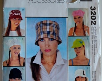 McCall's Fashion Accessories 3202 Misses Hats UNCUT