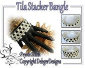 Tila Stacker Bangle-  Beading Pattern Tutorial