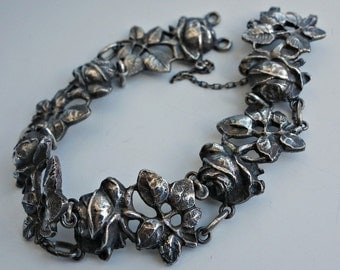 Fili Peruzzi Silver Rose Bracelet