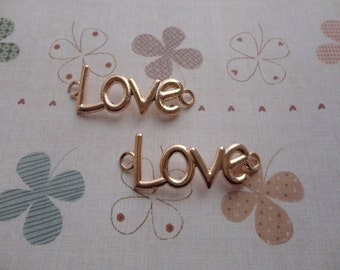 20pcs 15mmx40mm love charm gold plated Retro Pendant Charm For Jewelry Pendant