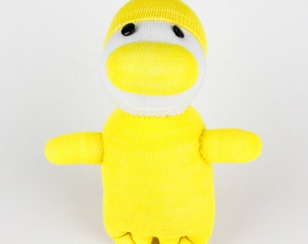 Children Toys Handmade Sock Skiing Duck Stuffed Animal Doll Baby Toys