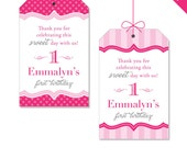 Pretty in Pink Party - Personalized DIY printable favor tags