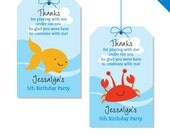 Under the Sea Party - Personalized DIY printable favor tags