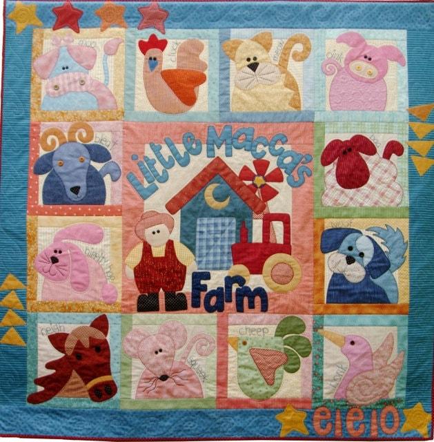 Little Macca S Farm Quilt Pattern Set Of 14 By Braidcraft