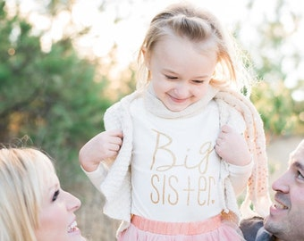 Sparkle Big Sister shirt | Paisley Prints original design | big sister announcement | pregnancy announcement | big sister gift |