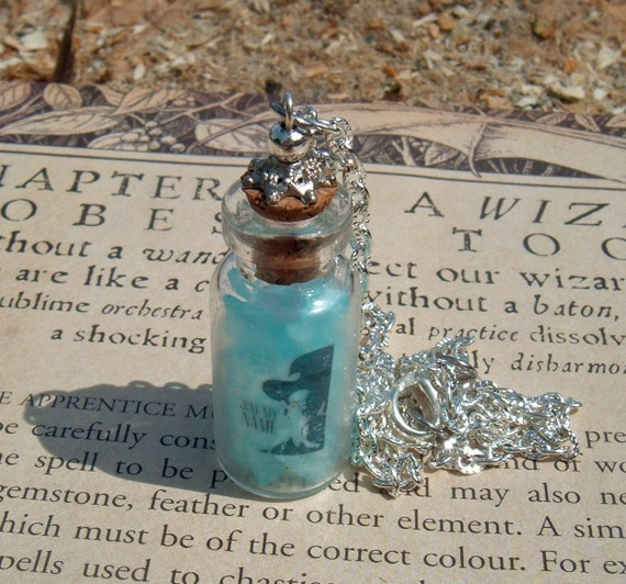 Breaking Bad Heisenberg Say My Name Blue Crystal Cook Glass Vial Pendant Etsy Original