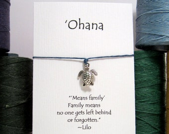 Ohana, Sea Turtle  Wish Bracelet