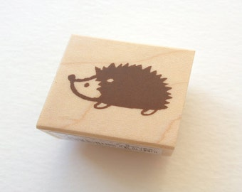 Cute Mini Japanese Wooden Rubber Stamp-Hedgehog