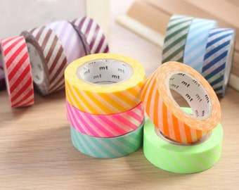 MT 2014 A/W New - Japanese Washi Masking Tapes / Colorful Stripes at your choice for packaging, party deco, card making