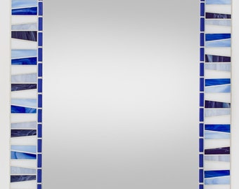 Blue & Purple Wall Mirror - Stained Glass Mosaic