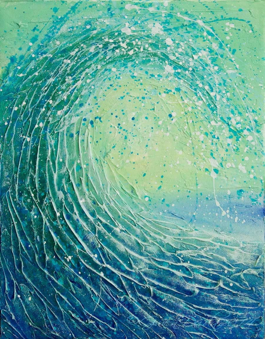 Wave Abstract Painting Acrylic 11 x 14 inches Abstract Realism
