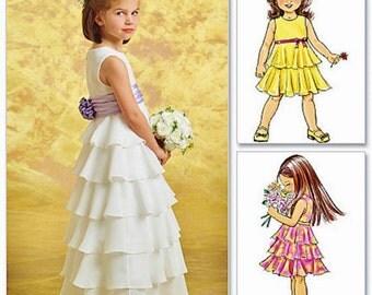 Flower Girl Dress Pattern, Ruffle Dress Pattern, Butterick Sewing Pattern 4967