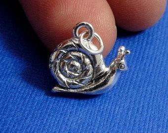 Snail Charm - Silver Snail Charm for Necklace or Bracelet