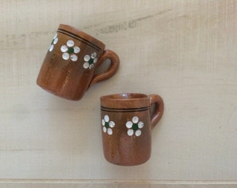 50 Mini Party Favor Mexican Pottery Mug Tequila Shot Glass