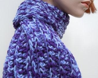Purple Scarf, Womens Purple Scarf, Lavender Crocheted Scarf
