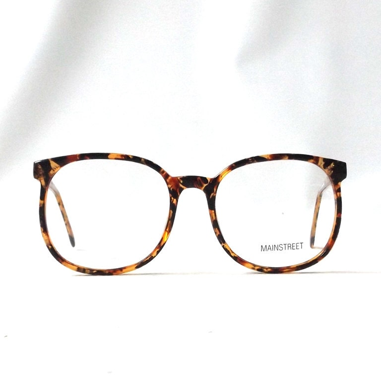 vintage 1980 s NOS eyeglasses oversized round brown ...