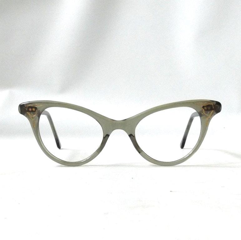 Cat Eye Women s Eyeglass Frames : vintage 1950s womens cat eye eyeglasses grey gray plastic