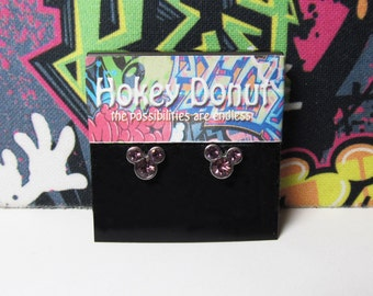 Mickey Mouse June Birthstone Stud Earrings